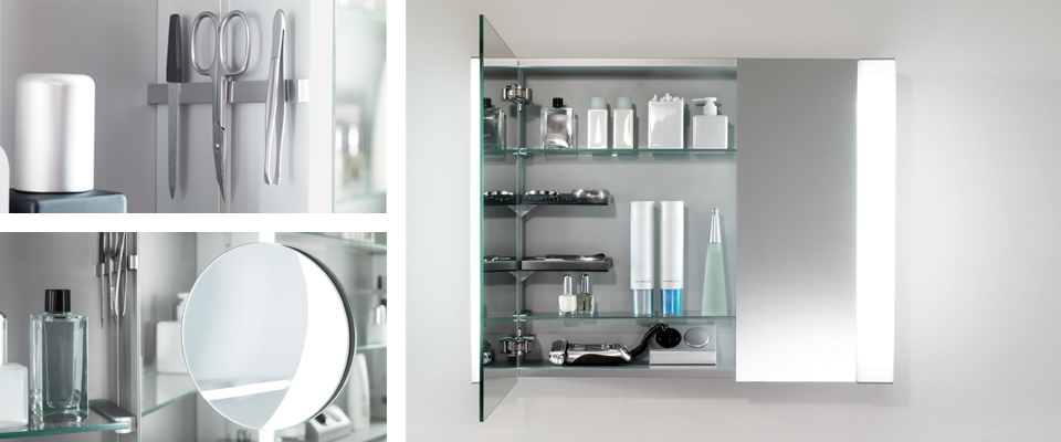 my view in completes the successful range of my view mirror cabinets with a new solution that fits into a recess in the wall the body which is 100 mm deep - Villeroy And Boch Bathroom Cabinets