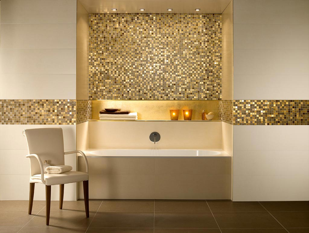 Bad Mosaik contemporary bathroom by horrigan omalley architects traditional